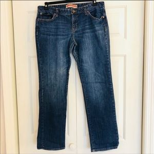 The gap premium straight leg plus size blue jeans